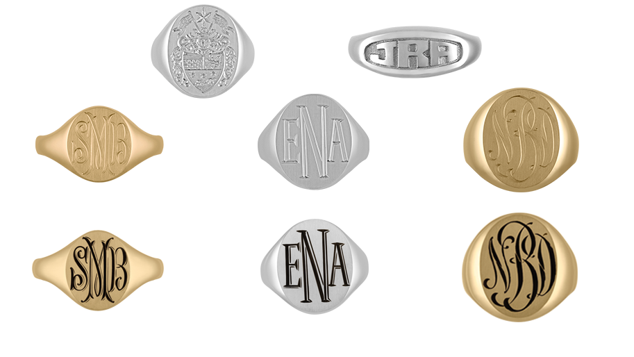 hand engraving personalized jewelry family crest sig